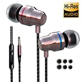 Earbuds Ear Buds in Ear Headphones Wired Earphones with Microphone Mic Stereo and Volume Control Waterproof Wired Earphone Compatible with Samsung Mp3 Players Tablet Laptop 3.5mm (sdrose)