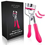 Petunia Skincare Silicone Eyelash Curler With Refill Pads Designed for No Pinching or Pulling and Perfect for Those With Straight Flat Lashes Wanting Dramatic Long Lasting Seamless Curls