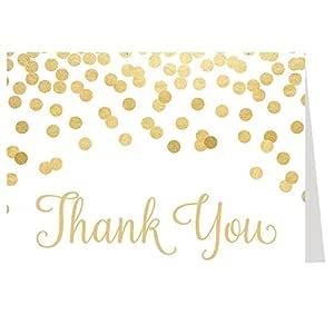 Tarjetas de agradecimiento, confeti, oro, brillo, brillo