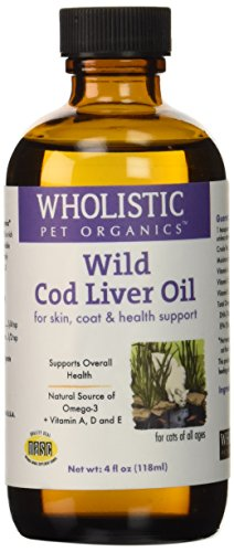 Wholistic Pet Organics Feline Cod Liver Supplement, 4 fl. oz