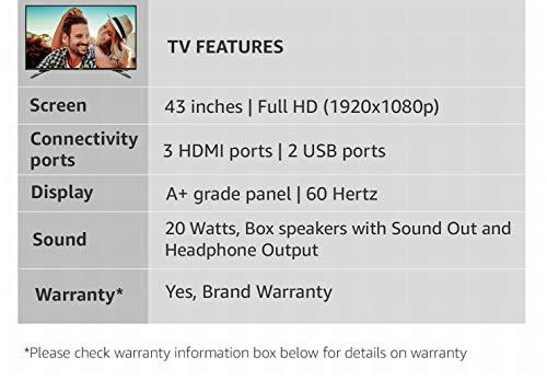 Sanyo 108 cm (43 Inches) Full HD IPS LED TV XT-43S7200F (Dark Grey) 3