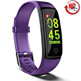 MorePro Fitness Tracker HR Waterproof Activity Tracker Watch with Heart Rate Blood Pressure Monitor, Color Screen Smart Wristband Pedometer, Sleep Tracking Steps Counter