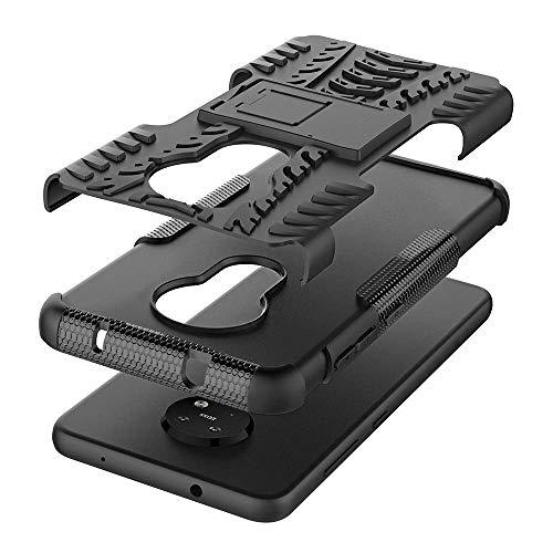 Soezit Back Cover Kickstand View Armor Case for Nokia 7.2 (Black) 4