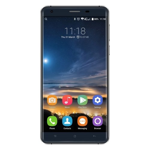 OUKITEL K6000 Pro 5.5 Inch Android 6.0 Smartphone, MTK6753 Octa Core 1.3GHZ, 3GB RAM + 32GB ROM GSM & WCDMA & FDD-LTE (Black)