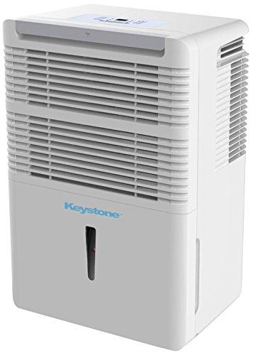 Keystone KSTAD50B Energy Star 50-Pint Portable Dehumidifier for 3000 Sq. Ft. with 6.4-Pint Bucket Capacity and Full Bucket Alert, White