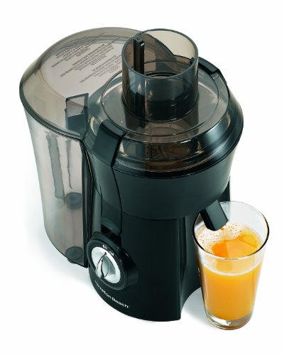 Hamilton Beach Juicer Machine, Big Mouth 3' Feed Chute, Easy to to Clean (67601A), 800 Watts, Black