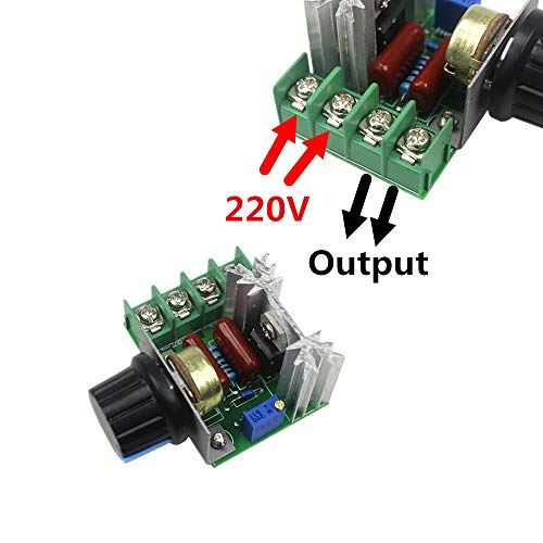 411FIRM8TPL AS RETAILS AC 220V 2000W SCR Voltage Regulator Dimming Dimmers Speed Controller Thermostat