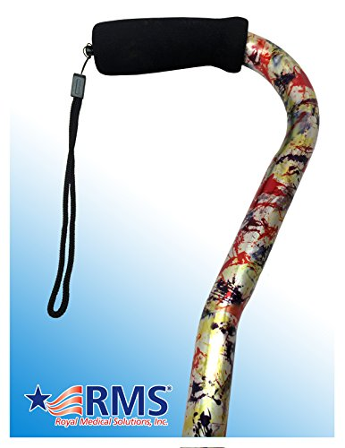 RMS Designer Cane with Adjustable Offset Handle (Modern Art)