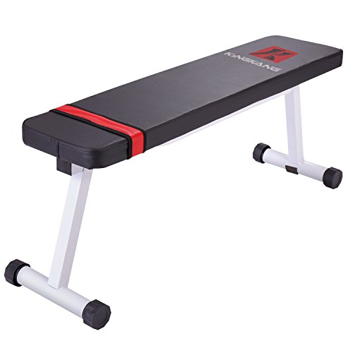 K KiNGKANG Flat Weight Bench Versatile Sit Ups Home Fitness Workout Strength Training Equipment