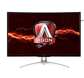AOC Agon AG322QCX 31.5' Curved Frameless Gaming Monitor, QHD 2560x1440 VA Panel, FreeSync, 144Hz, 4ms, DisplayPort/HDMI, VESA