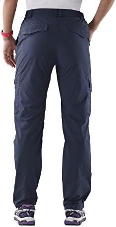 Nonwe Women's Outdoor Water-Resistant Quick Drying Lightweight Cargo Pants 2