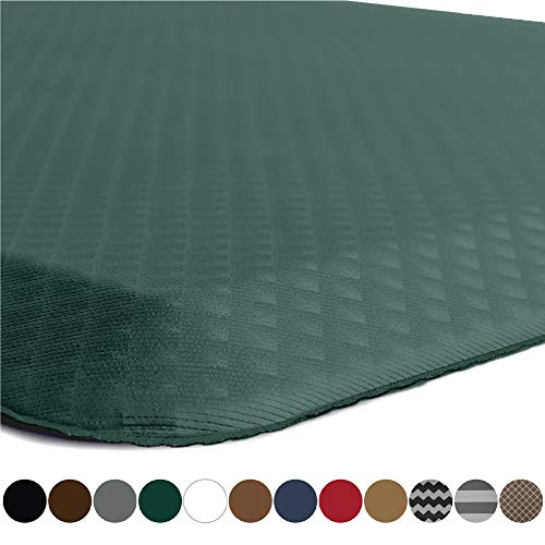 Kangaroo Original 3/4' Standing Mat Kitchen Rug, Anti Fatigue Comfort Flooring, Phthalate Free, Commercial Grade, Waterproof, Ergonomic Floor Pad, Rugs for Office Stand Up Desk, 39x20 (Hunter Green)