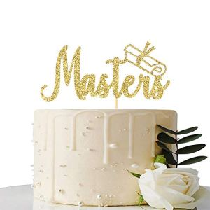Gold Glitter Master Cake Topper – Master Grad Cake Topper – Master Graduation Party Decorations 411LeojwUaL