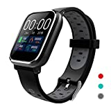 CRATEC W5 Fitness Tracker Heart Rate Sleep Monitor Blood Pressure Waterproof Smart Watch, Long Battery Life Bluetooth Activity Tracker, Large Screen Sports Band for Men Women Teens