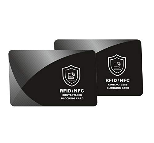 RFID Blocking Card | NFC Contactless Cards Protection | 1 Card Protects Your Entire Wallet | No More Need for Single Sleeves | for Men or Women, Credit Card Holder, Wallets or Passport | Double Pack