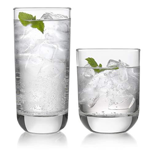 Libbey-Polaris-16-Piece-Tumbler-and-Rocks-Glass-Set-Clear