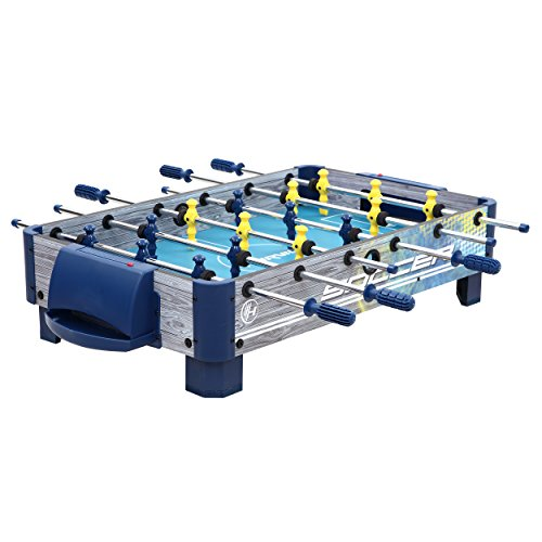 Harvil 38-Inch Tabletop Foosball Table with Silver Rods and Non-Slip Handles, 2 Manual Slide Scoring...