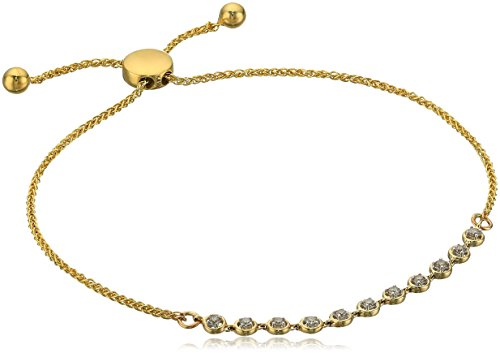 """411Qi7INWhL yellow gold diamond strand bracelet.  7.50 inch bracelet the diamonds in these earrings are guaranteed to be """"conflict-free"""".  we proudly adhere to the rio tinto """"chain of custody"""" program, which includes comprehensive audits of the supply chain to ensure the diamonds are traceable to the source. imported. carat weight listed is total diamond weight."""