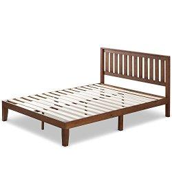 Zinus Vivek 12 Inch Wood Platform Bed with Headboard / No Box Spring Needed / Wood Slat Support / Antique Espresso…