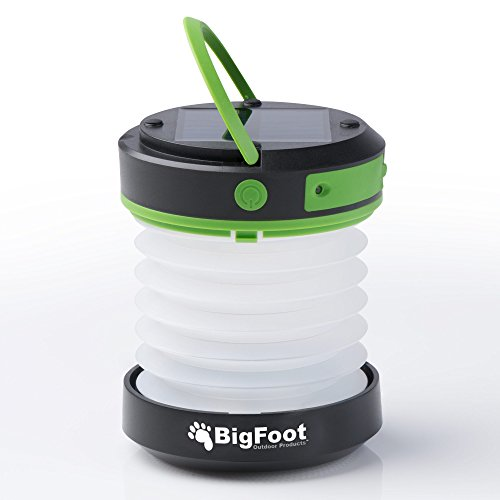 Bigfoot Outdoor Products Compact Solar Camping Lantern with USB PowerBank Great for Camping, Hiking & Go Bag - Best Camping Lantern - Best Solar Lantern - Best Emergency Light