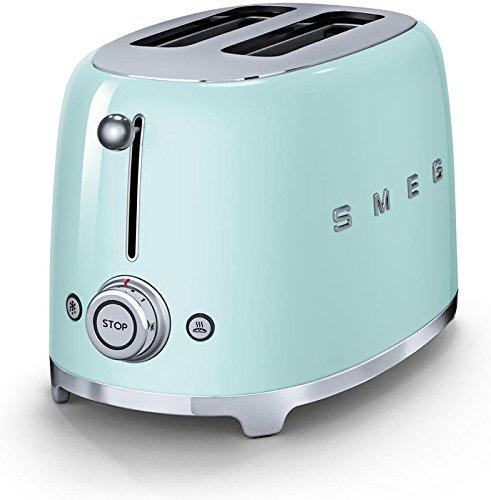 Smeg TSF01PGUS 50's Retro Style Aesthetic 2 Slice Toaster, Pastel...
