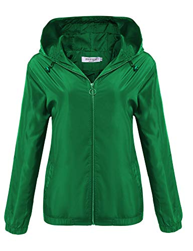 UNibelle Women's Lightweight Waterproof Rain Jacket Active Outdoor Hooded Raincoat Windbreaker