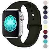 ilopee Cute Bands Seamless Fit for iWatch Series 4 3 2 1 42mm 44mm, Black, M/L