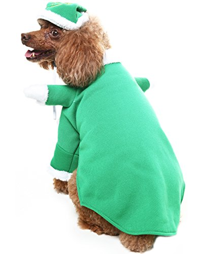 Christmas Dog Costumes.Christmas Dog Costumes With Hat Scenereal Cute Santa Claus Pet Clothes Suit Xmas Outfits For Small Medium Dogs Cats Puppy Cosplay Holiday Gifts