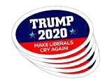 5 PackOval Car Magnet Trump 2020 Trump Make Liberals Cry Again TO439
