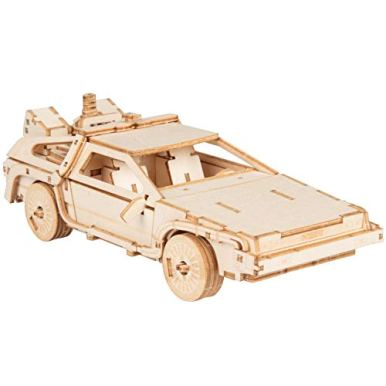 Back-to-The-Future-Delorean-3D-Wood-Puzzle-Model-Figure-Kit-154-Pcs-Build-Paint-Your-Own-3-D-Movie-Toy-Holiday-Educational-Gift-for-Kids-Adults-No-Glue-Required-10
