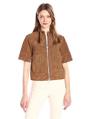 81BEolt pgL Two way front zip Welted zip pockets 100 percent lamb leather