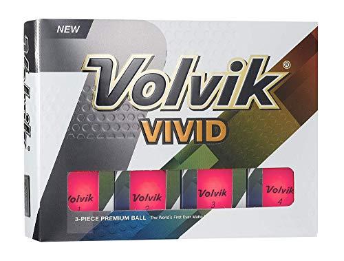 Volvik Vivid Golf Balls, Matte Pink One (Dozen) - 9727