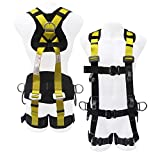 Commando Fall Protect Full-Body Safety Harness with Lanyard (ANSI and OSHA Compliant)