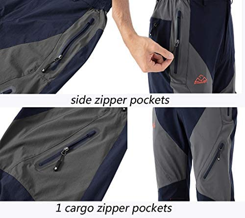 YSENTO Men's Outdoor Quick Dry Hiking Mountain Cargo Pants Camping Fishing Pants Zipper Pockets 6