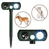 Dog Repellent, Outdoor Solar Powered & Weatherproof Ultrasonic Dog/Cat/Mosquito Repeller