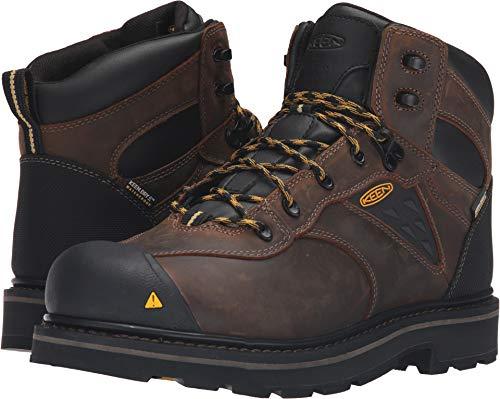 Keen Utility Men's Tacoma Soft Toe Waterproof Work Boot, Cascade Brown, 8 M US