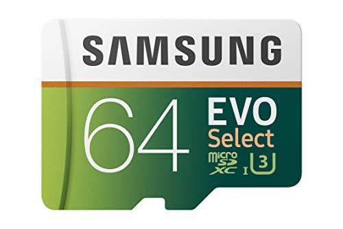 Samsung 64GB 100MB/s (U3) MicroSD EVO Select Memory Card with Adapter (MB-ME64GA/AM)
