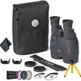 Canon 18x50 Image Stabilization All-Weather Binoculars - Bundle with Tulip Lens Hoods, Tripod + More