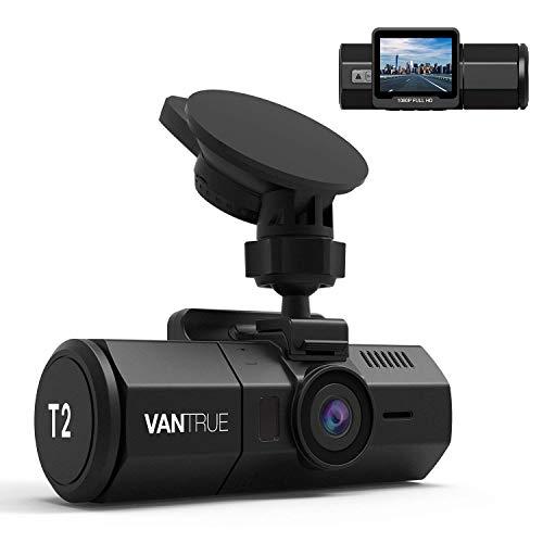 Vantrue T2 24/7 Surveillance Super Capacitor Dash Cam 1920x1080P 2.0'' LCD 160° Car Dashboard Camera w/Wave Guard Parking Mode Recorder, OBD Hardwire, Night Vision, Sony Sensor, Support 256GB Max