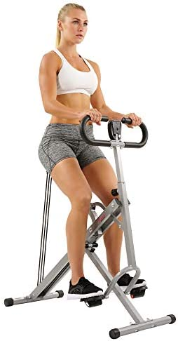 Sunny Health & Fitness Squat Assist Row-N-Ride Trainer for Squat Exercise and Glutes Workout 3