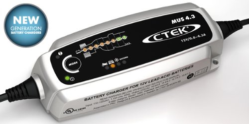 CTEK (56-864) MUS 4.3 12 Volt Fully Automatic 8 Step Battery Charger