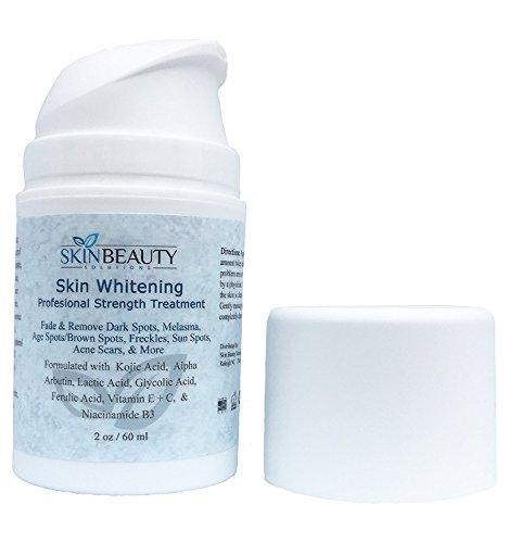 Pro Strength Skin Lightening Serum with Kojic Acid, Alpha-Arbutin & Vitamin C - Skin Bleaching, Hyperpigmentation, Melasma, Acne Spot (2 oz / 60 ml)
