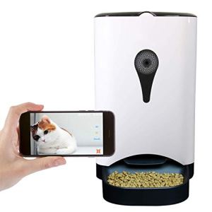 4.5L Smart Feeder, Automatic Pet Feeder for Cats and Dogs, HD Camera for Video and Audio Communication, APP Controlled Food Dispenser Through Wi-Fi