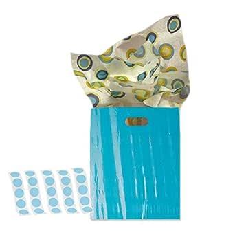 Azul brillante mercancía bolsas, bolsas de la compra, 12