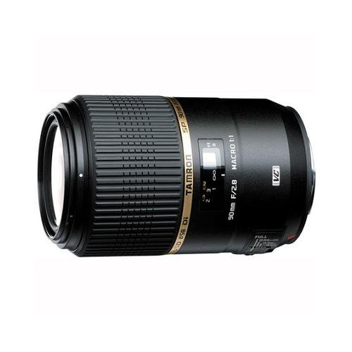 Tamron AFF004N700 SP 90MM F/2.8 DI MACRO 1:1 VC USD For Nikon 90mm IS Macro Lens for Nikon (FX) Cameras - Fixed