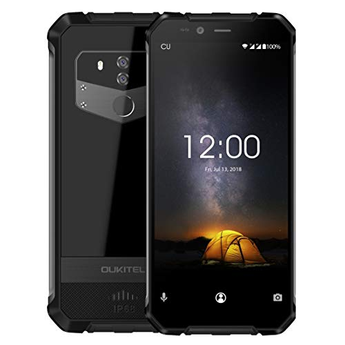 OUKITEL WP1 Rugged Phone 4GB+64GB 5000mAh Battery 5.5 inch Android 8.1 MTK6763 Octa Core up to 2.0GHz GSM & WCDMA & FDD-LTE (Black)