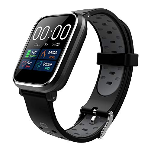 CRATEC W5 Smart Watch Fitness Heart Rate Sleep Monitor Blood Pressure Waterproof Activity Tracker, Bluetooth, Long Battery Life, Large Screen Sports Band