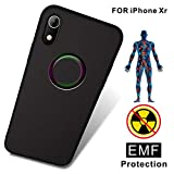 TAGCMC Anti-Radiation Cell Phone Case, EMF Protection & Negative Ion Energy, Ultra Thin Hard Cover Soft Slim Fit Shell Full Body Protection for Apple iPhone XR - (Only for iPhone XR - Black)