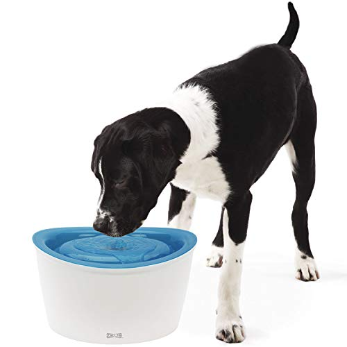 Zeus Fresh & Clear Elevated Dog and Cat Water Dispenser, Large Drinking Water Fountain with Purifying Filter, 6L Capacity
