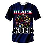 pinata Novelty Melanin Mens Shirts 3D Printed Plus Size Graphic Tshirt Men 3XL